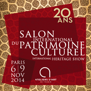 Salon International du Patrimoine Culturel - 6 au 9 novembre 2014 - Carrousel du Louvre Paris